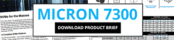Download the Micron 7300 NVMe Product Brief