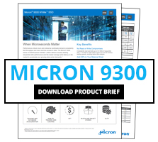 Download the Micron 9300 NVMe Product Brief