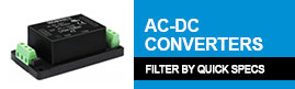 Sort Mornsun AC-DC Converters by Quick Specs