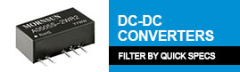 Sort Mornsun DC-DC Converters by Quick Specs