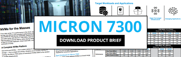 Download Micron 7300 SSD Product Brief